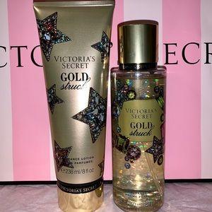 Victoria's Secret Gold Struck Fragrance Set